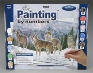 ROYAL PAL19 ADULT PAINT BY NUMBER WOLVES 15X11-1:4