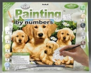 ROYAL PJL12 JUNIOR PAINT BY NUMBER GOLDEN RETRIEVER 15X11-1:4