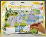 ROYAL PJL20 JUNIOR PAINT BY NUMBER FAIRY CASTLE 15X11-1:4