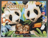 ROYAL PJL8 JUNIOR PAINT BY NUMBER ENDANGERED ANIMALS15X11-1:4