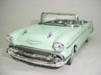 MOTORMAX 73175 1:18 CHEVY BEL AIR 57 CONVERTIBLE LIGHT GREEN OR BLUE